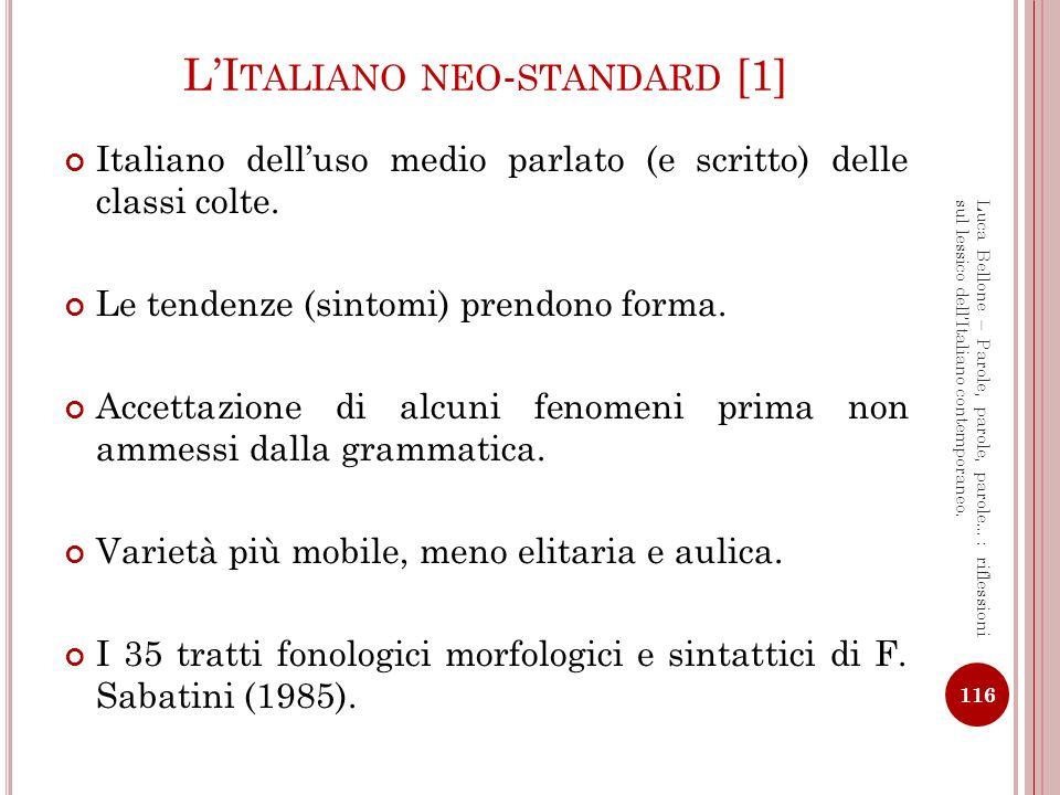 L'Italiano neo-standard [1]